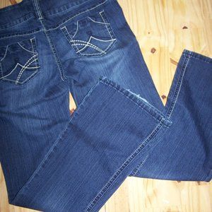 21 Black By Rue21 Button Front Flare Jeans 11/12